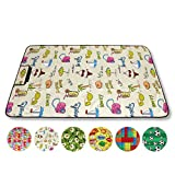 Bestlivings Picknickdecke Fotodruck Stranddecke Kofferraumunterlage Auswahl: Größe - 70x100 cm Design - Beach