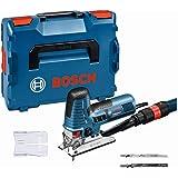 Bosch Professional sticksåg GST 160 CE (med 3x sågklingor för trä, sugadapter, skyddshuv, 1/1 L-BOXX-insats, L-BOXX 136)