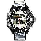 Adisaer Uhr Herren Wasserdicht Wasserdicht Militärisch Herrenuhr Tarnung Multifunktional Grau Outdoor Sportuhr Armbanduhr Aut