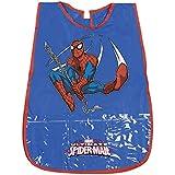 Delantal Infantil Marvel Ultimate Spiderman - Bata Escolar Impermeable para Niño con Bolsillo delantero con el Oficial de Spider-Man - para mantener la ropa ...