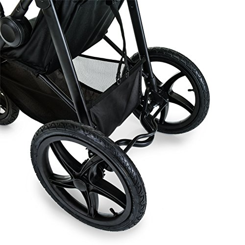 Hauck Runner Jogger Style One Hand Fold Pushchair with raincover – Black/neon Yellow