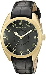 Ben & Sons Mens BS-10014-AN-014 Voyager Analog Display Quartz Black Watch