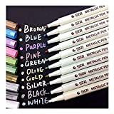 Best Fabric Markers - Metallic Marker Pens Audel - Set of 10 Review