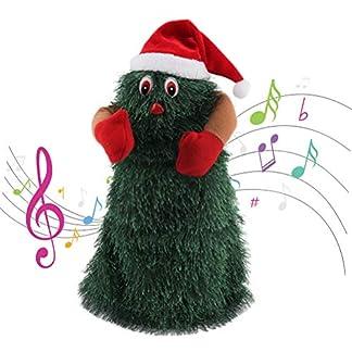 Mekta Árbol de Navidad eléctrico, muñeca, Papá Noel, Juguete Musical rotatorio, Bailar, Juguete