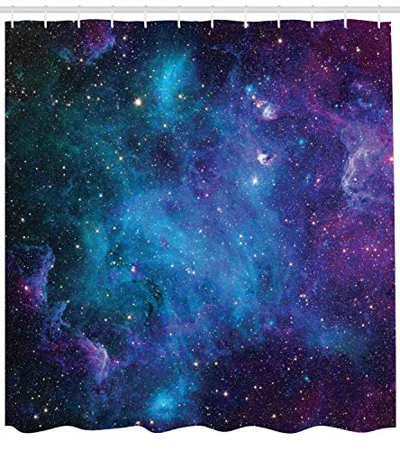 edf81a4dfd7d ABAKUHAUS Outer Space Shower Curtain, Galaxy Stars in Space Celestial  Astronomic Planets in the Universe Milky WayCloth Fabric Bathroom Decor Set  with ...