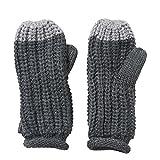 adidas Damen Climawarm Chunky Handschuhe, Mehrfarbig (grau - Light Grey Heather/Ch Solid Grey), Gr. L