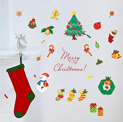eber Weihnachtsbaum 3D Schneemann DIY Dekoration Kinderzimmer Dekoration Wandtattoos ()