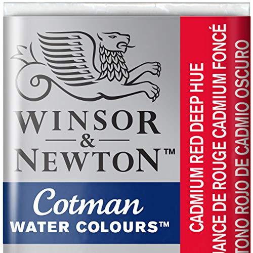 Winsor & Newton 301696 Cotman Colori Acquerello, Viridian, (Cadmium Rosso), 1.9x1.6x1.1 cm