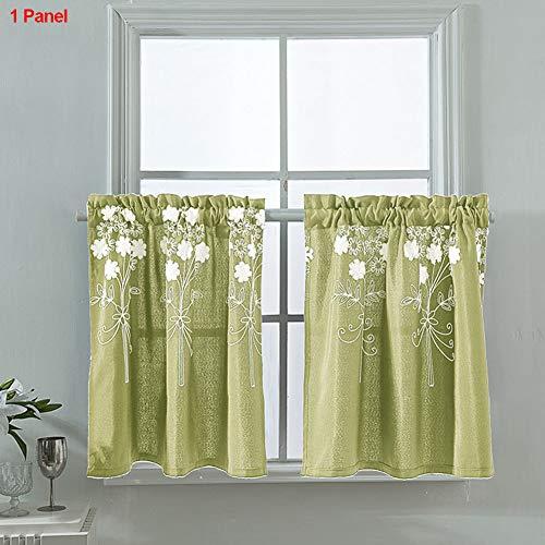 Tenda 1pc drape panel shades riduzione del rumore floreale persiane oscuranti soggiorno decorazioni per la casa moderna finestra jacquard squisito ricamo camera da letto(4#)