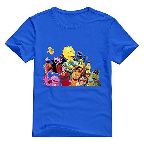 StaBe Men Sesame Street T-Shirt 100% Cotton Swag Asphalt