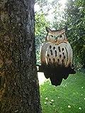 Baumfigur Baumdeko Eule aus Metall handbemalt mit viel Liebe zum Detail