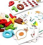 Alphabet ABC und Zahlen 123Puzzles mit Holzteile Set, 73Teile
