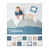 Lulujo Milestone Swaddle Blanket and Card Set, I Will Move Mountains