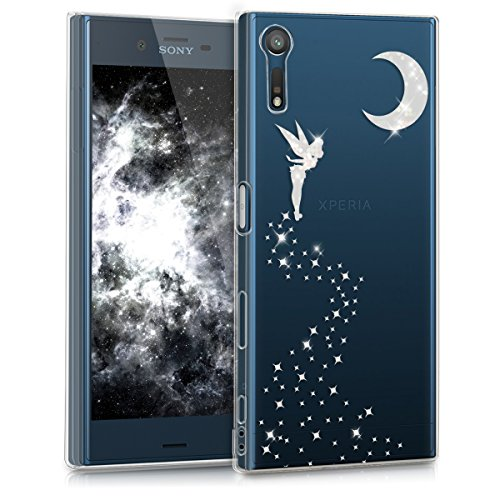 kwmobile Sony Xperia XZ/XZs Hülle - Handyhülle für Sony Xperia XZ/XZs - Handy Case in Silber Transparent