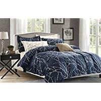 Duvet cover set with fit sheet-6 pieces set King size