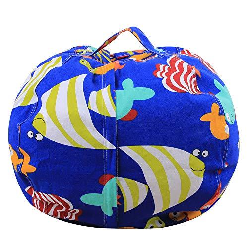 TOYLT Stofftier Aufbewahrung Sitzsack Enthält Reißverschluss,Geeignet für Wohnzimmer Schlafzimmer lagerung Spielzeug,18inch