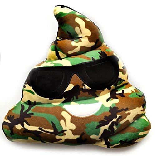 Plüsch Plüschtiere Kissen, yoyoug witzige Camouflage Emoji-Kissen Herz smiely Emoticon Augen Poo Form Kissen Puppe Spielzeug Geschenk gefüllt Poop Schlüsselanhänger mit Puppe Poo Emoji-Emoticon Kissen (Augen Mit Emoji Herz)