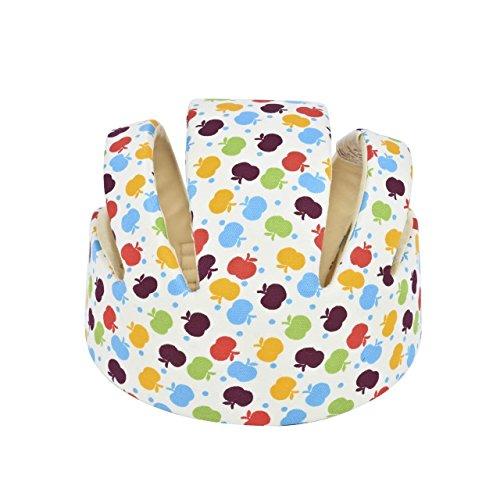 Newcomdigi Casque Sécurité Bébé Casque de Protection Bébé Sécurité Domestique en Coton Douce Réglable Antichoc Blanc