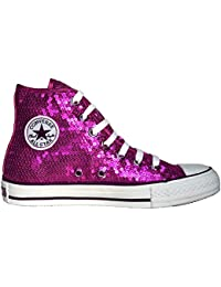 6c149c53ba89d7 Converse All Star Chucks Limited Edition Sequins Pailletten Magenta Pink  Größe  ...