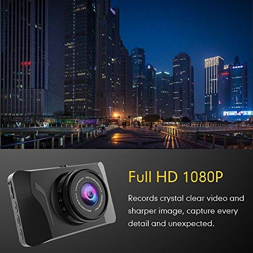 Mibao Dashcam Telecamera per Auto Dash Cam per Auto Camera Car 1080P con 3.0″ LCD, 170 Gradi, G-Sensor, WDR, 6 Glens, Rilevazione di Movimento, Registrazione in Loop,WDR - 2