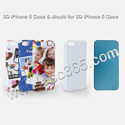 1pc 3D Iphone5 Mould and 10Cases used by 3D Sublimation heat transfer machine by Sublimation Molds&Clamps