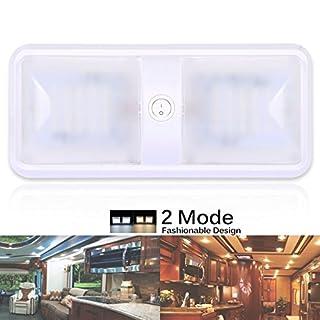 AutoEC 12v LED RV Decken-Leuchte Energiespar/Leichte Kabinett Lichter mit Schalter, Warm Weiß, für Wohnwagen/Wohnwagenanhänger/Wohnmobil/Fahrzeug/Auto [Energieklasse A]