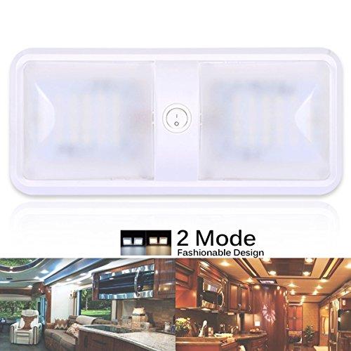 AutoEC 12v LED RV Decken-Leuchte Energiespar/Leichte Kabinett Lichter mit Schalter, Warm Weiß, für Wohnwagen/Wohnwagenanhänger/Wohnmobil/Fahrzeug/Auto [Energieklasse A] (Rv Led-lampen)