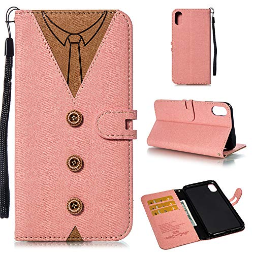 fitmore iPhone 9 Plus Case, iPhone 9 Plus Wallet Case,Design, Premium Slim Leather Wallet Back Case with Credit Card ID Holder Protective Case Replacement for iPhone 9 Plus,Pink Iphone 3g Back Cover