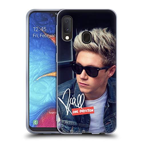 Head Case Designs Offizielle One Direction Niall Mit Denim Weste Signierte Solo Fotos Soft Gel Huelle kompatibel mit Samsung Galaxy A20e (2019) -