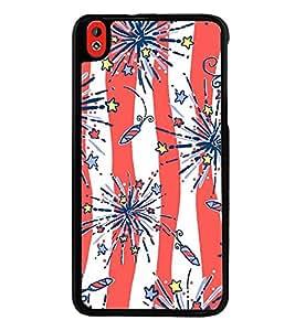 Fuson Designer Back Case Cover for HTC Desire 816 :: HTC Desire 816 Dual Sim :: HTC Desire 816G Dual Sim (Crackers Rocket Stars Bombs Lights)