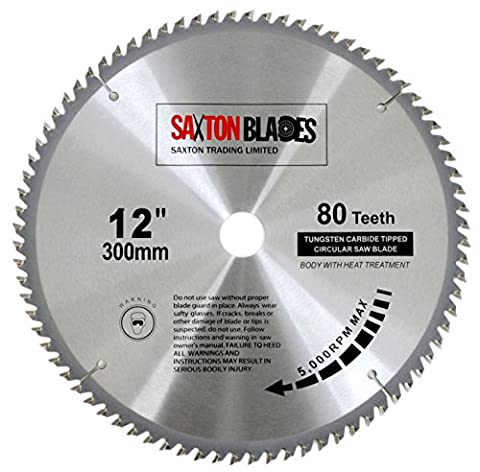 Saxton TCT Circular Wood Saw Blade 300mm x 30mm 80T for Bosch, Makita etc