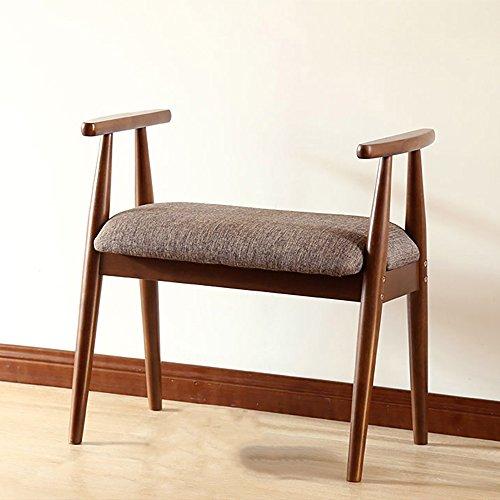 LJHA Tabouret pliable Repose-pieds en bois solide/simple tabouret de canapé de salon/changement de porte de porte de chaussures tabouret chaise patchwork (Couleur : Marron)