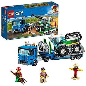 LEGO City Trasportatore di Mietitrebbia con 2 Minifigures e Uno Spaventapasseri, Set di Costruzioni per Bambini dai 5…  LEGO