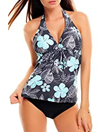 Octopus Trendiger Push Up Tankini/Slip/Neckholder/Bandeau/Cut Out/Verschiedene Prints f3409