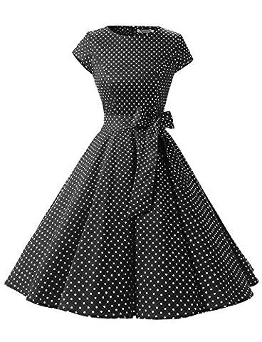Robe Noir Vintage - Dressystar DS1956 Robe à 'Audrey Hepburn' Classique