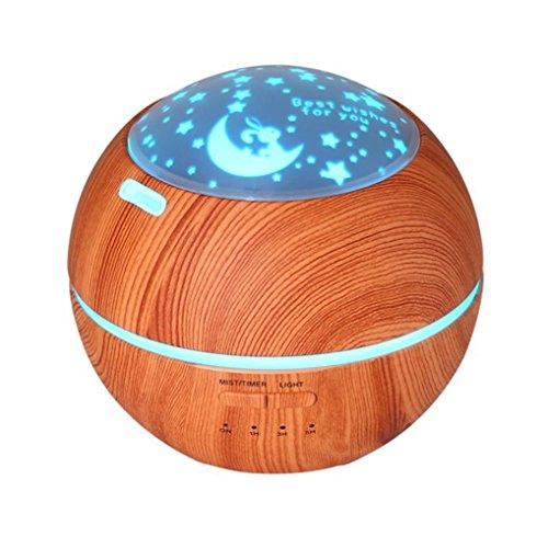 QUINTRA Luft Aroma Luftbefeuchter Ultraschall Luft Aromatherapie Ätherisches Öl Diffusor 150 ml (Brau)