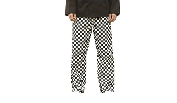 c306f1ddbd724 Top qualité Chef s Pantalon à carreaux noir et blanc Grand Format-Tour de  taille : environ 36 cm (40