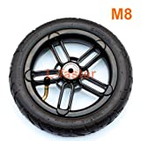 L-faster 200x35 Pneumatic Tyre Use Nylon Hub Fit M8 Or M6 Axle 8' Air Wheel for Electric Scooter Replacement 8 inch Inflatable Wheel Tube (M8)