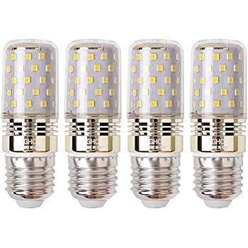 E27 LED maíz bombilla, 12W, 3000K Blanco cálido LED bombillas, 100W incandescente bombillas equivalentes, 1200lm, Edison tornillo cilíndrico bombillas,(4 ...