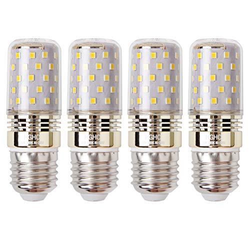 E27 LED maíz bombilla, 12W, 3000K Blanco cálido LED bombillas, 100W incandescente bombillas equivalentes, 1200lm, Edison tornillo cilíndrico bombillas,(4 Packs)