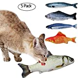 Tacobear 5pcs Catnip Fish Cat Toys Interactive Soft Plush Cat Toys for Indoor Cats Kitten