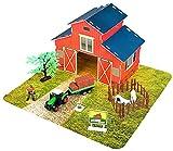 ✿ Spielzeug Bauernhof Set mit Metall Traktor und Bauernhoftiere ✿