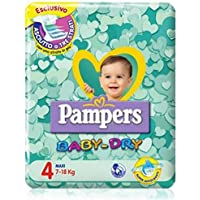 Pampers Baby Dry Taille 4 Maxi décomptage 58 Pieces