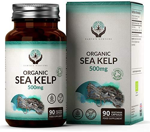 Algas Marinas Orgánicas 500mg [90 cápsulas de Algae] | Fuente de Yodo...