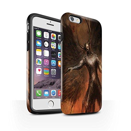 Offiziell Chris Cold Hülle / Glanz Harten Stoßfest Case für Apple iPhone 6S / Pack 10pcs Muster / Dunkle Kunst Dämon Kollektion Schwarzen Flügeln