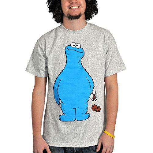 Sesame Street Cookie Thief T-Shirt grigio XL