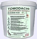 Teichsalz für Koi, Koiteich und Koibecken, vitalisierendes Teichsalz, Tomodachi Ikashi-Kei, gegen Nitrit, Ammoniak und Stress, zur teichweiten Behandlung oder als Kurzzeitbad 5kg Eimer Tomodachi Teichsalz