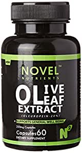 Novel Nutrients Olive Leaf Extract (Oleuropein20%) - 250Mg - 60 Caps