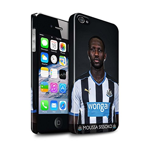 Offiziell Newcastle United FC Hülle / Glanz Snap-On Case für Apple iPhone 4/4S / Pack 25pcs Muster / NUFC Fussballspieler 15/16 Kollektion Sissoko