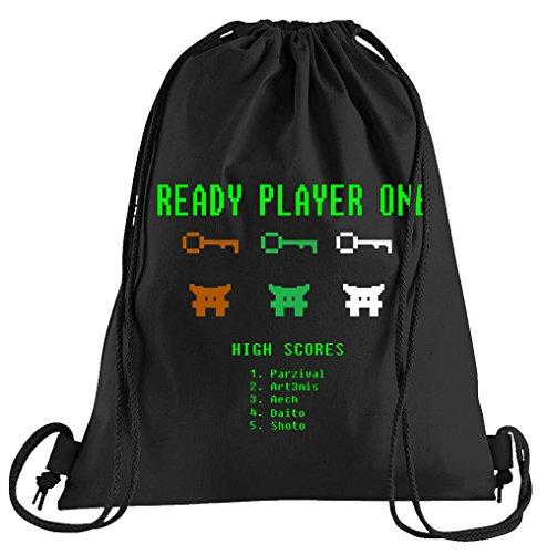Kostüm Player Sport - T-Shirt People Ready Player One Sportbeutel - Bedruckter Beutel - Eine schöne Sport-Tasche Beutel mit Kordeln
